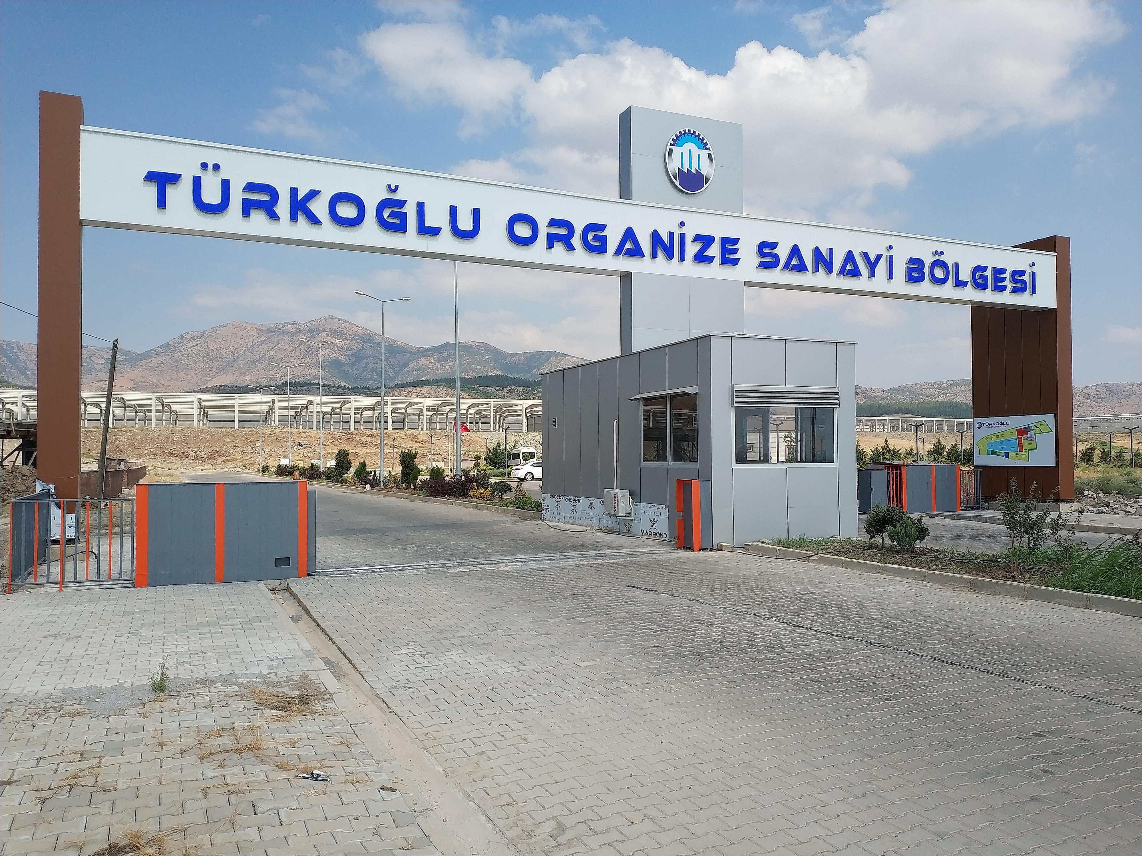 Türkoğlu OSB Giriş Kapısı Hizmete Açıldı